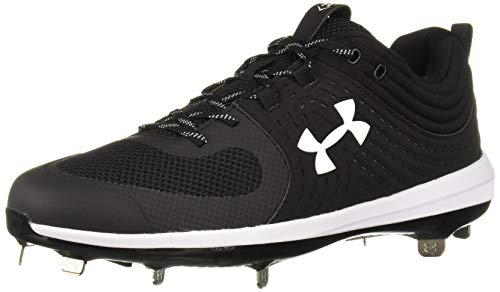 Under Armour Women's Glyde ST Softball Shoe, Black (001)/White, 9