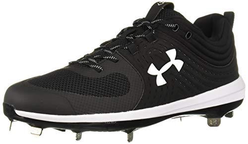 Under Armour Women's Glyde ST Softball Shoe, Black (001)/White, 7