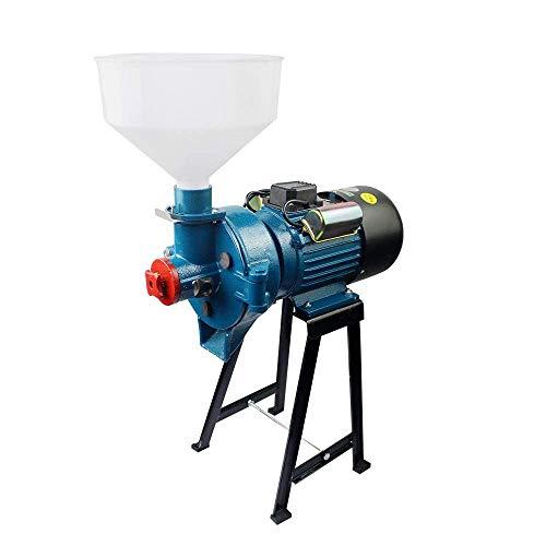 2 200 W elektrisk kvarn högpresterande kommersiell kvarn torrkvarn spannmål majskorn kaffe vete matningsmaskin med tratt, B