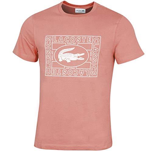 Lacoste - Camiseta para hombre ELF Pink (5 mm). XXL