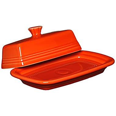 Fiesta Covered Butter Dish, X-Large, Poppy