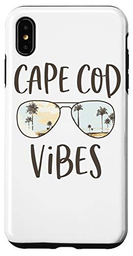 iPhone XS Max Cape Cod Beach Vibes Ocean Palm Tree Sunset Sunglasses Case