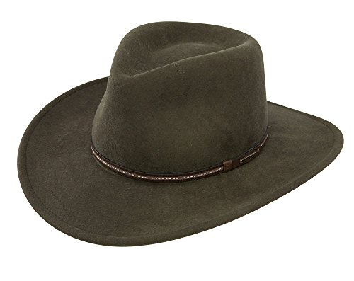 Stetson Gallatin Crushable Wool Felt Hat- Sage, Medium