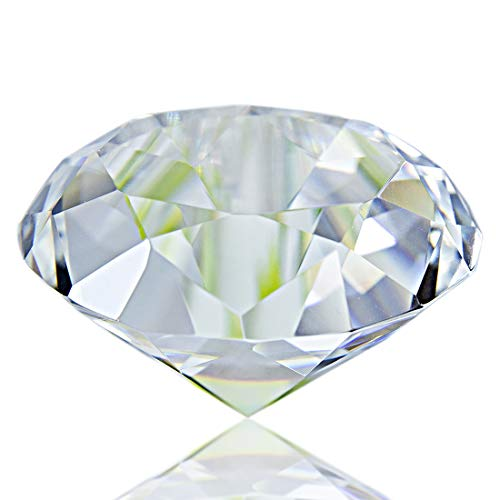 Faceted Crystal Glass Diamond Paperweight, Clear 55mm Jewel Paperweight, Gift Decoration Idea For Christmas, Birthday