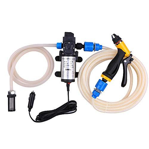 CAIJINJIN Bomba de agua 12V 80W de alta presión de alta presión Lavadora de automóviles Lavadora de automóvil Lavadora de salchichas Herramientas de limpieza de automóviles Agua eléctrica Pistola de p