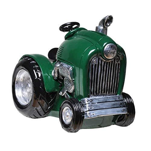 UDO Schmidt 89152 spaarpot tractor groen 12 cm deco spaarvarken figuur boerderij