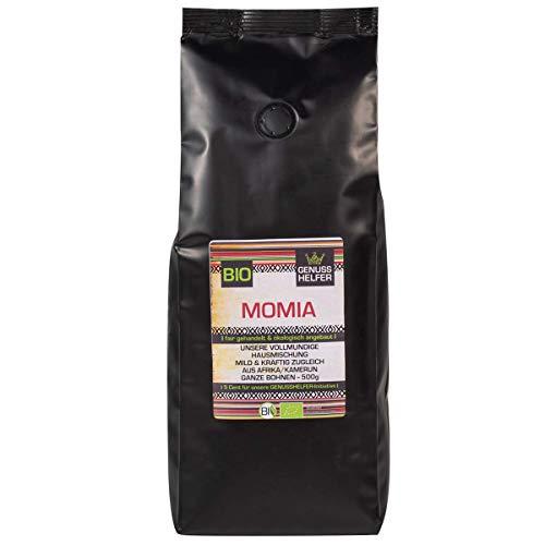 Fairtrade Kaffee, MOMIA Hausmischung, BIO, ganze Bohne, vollmundig, mild-kräftig, schonende Langzeitröstung, 500g - Bremer Gewürzhandel