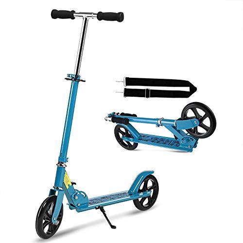 WeSkate Scooter Roller Tretroller mit Tragegurt, Roller Erwachsene Klappbar und Höhenverstellbar Cityroller für Erwachsene Jugendliche und Kinder ab 8 Jahre
