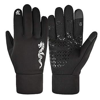 Aniywn Winter Running Gloves Touchscreen Thermal Gloves Men Women Winter Windproof & Waterproof Gloves Snow Warm Gloves