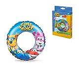 takestop® Rosquilla hinchable - Juego de 2 rosquillas superwings salvavidas de 50 cm - Dibujo animado Magic NICKLEODEON - Anillo flotante para la playa para niños