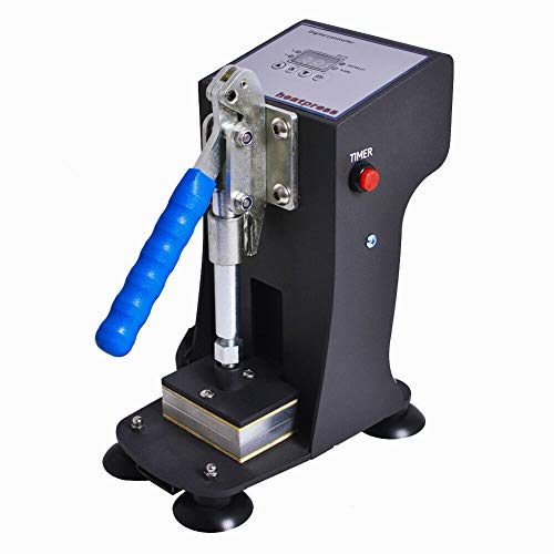 Slsy Mini Personal Heat Press Machine, 770lbs Max Pressing Force Manual Heat Presser, 2x3 Inch Heat Platen, Digital Control Panel Sublimation Press Machine
