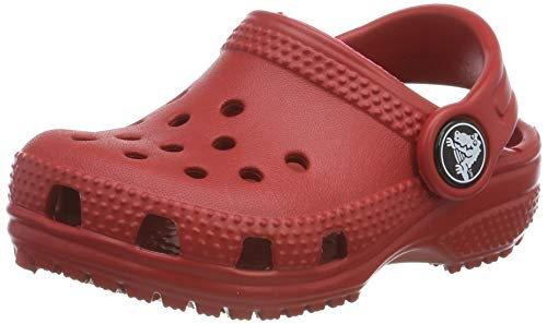 crocs Unisex-Kinder Classic Kids Clogs, Rot (Pepper 6En), 32/33 EU