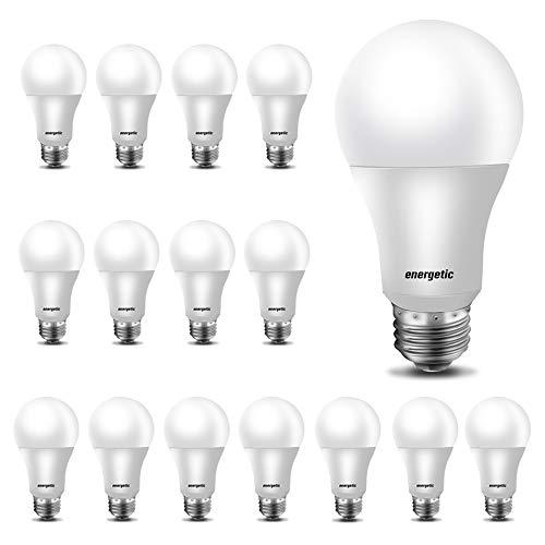 60W Equivalent, A19 LED Light Bulb, 5000K Daylight, E26 Medium Base, Non-Dimmable LED Light Bulb,750lm,UL Listed 16-Pack