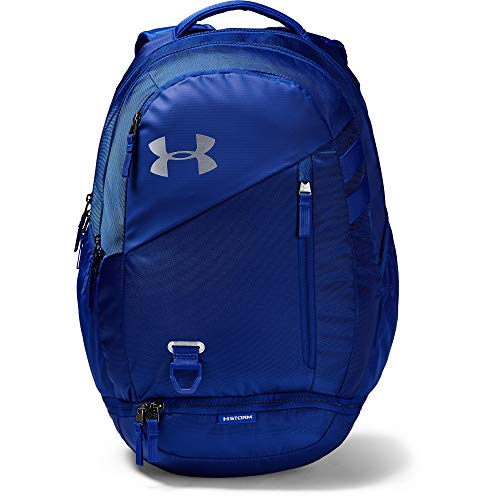 Under Armour Adult Hustle 4.0 Backpack , Royal (400)/Silver , One Size