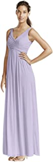 Long Mesh Bridesmaid Dress with Cowl Back Detail Style F15933