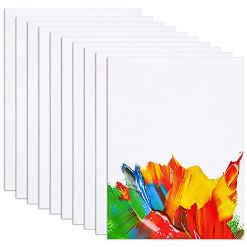 Viesap Toiles, 10PCS Toile Peinture, 18x24CM Toile à Peindre, 100% Coton Panneaux De Peinture Sur Toile, Panneaux De Toile, Noyau En Carton Recyclé, Toile Vierge Pour Peintures Acryliques, Huile, Etc.