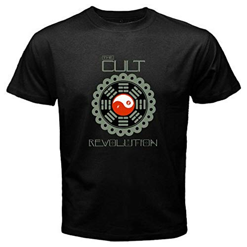 New The Cult - Revolution Rock Band Logo Men's White Black T-Shirt Size S To 3XL