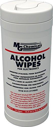 MG Chemicals 8241-T Toallas de Alcohol para Electrónica, 75 toallitas