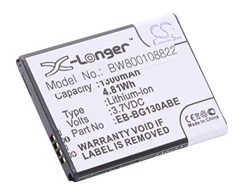 vhbw Li-Ion batería de 1300mAh (3.7V) para teléfono móvil Smartphone Samsung Galaxy Young 2 Duos, Young II y EB-BG130ABE.
