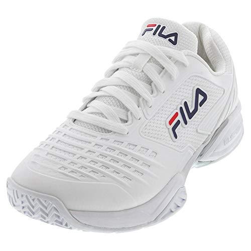 FILA Men's Axilus 2 Energized Tennis Shoe (White/White/FILA Navy, 7.5)