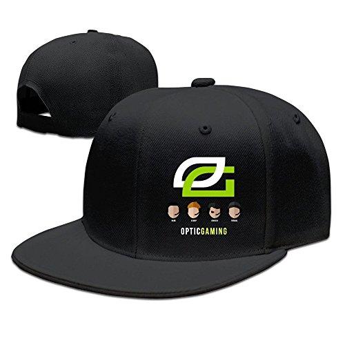 BAI XUE Fibra Gaming Equipo Logo Gorra de béisbol Ajustable - Negro -