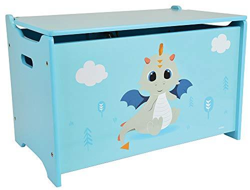 FUN HOUSE Leon Le Dragon 713305 Coffre à Jouets Bois, pour Enfant
