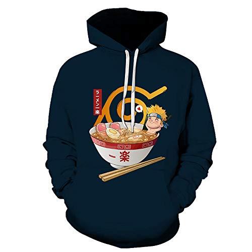 xieluo 3D Print Hoodies Lustige Naruto Nudeln Print Pullover Ärmel Streetwear Kinderkleidung Sweatshirt Hoodies-Color_6_4XL