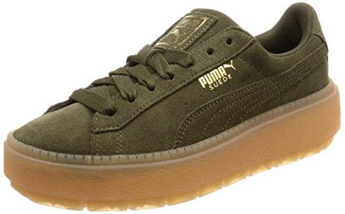 Puma 365830-03 - Zapatillas Para Mujer Suede Platform Trace - Oliva
