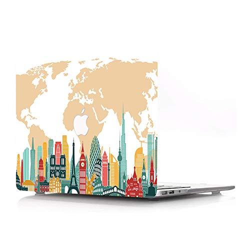 AJYX Estuche para MacBook Air 11 Pulgadas Modelo A1370 A1465 Superficie Mate Protector De Plástico Cubierta De Goma Estampada Funda para Computadora Portátil para MacBook Air 11', Atracción Turística