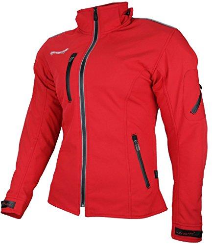HEYBERRY Damen Soft Shell Jacke Motorradjacke Textil Rot Gr. S