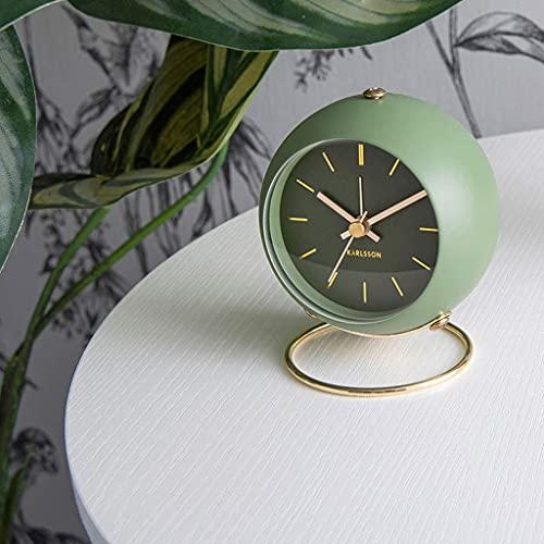 LKOER Reloj de Mesa Inicio Mini Reloj Despertador Mute Lámpara de Estilo nórdico de Lujo Reloj de Reloj Simple de Lujo Cuatro Colores Reloj de Estante (Color: D) jinyang (Color : C)