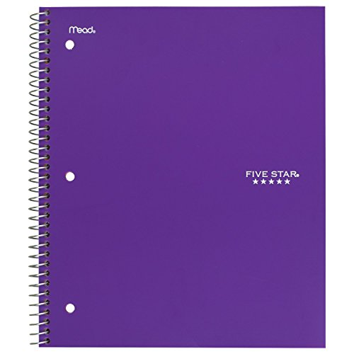 """Five Star Spiral Notebooks, 1 Subject, Graph Ruled Paper, 100 Sheets, 11"""" x 8-1/2"""", Assorted Colors, 6 Pack (73549) Photo #5"""