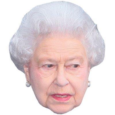 Celebrity Cutouts HRH The Queen Maschere di Persone Famose, Facce di Cartone