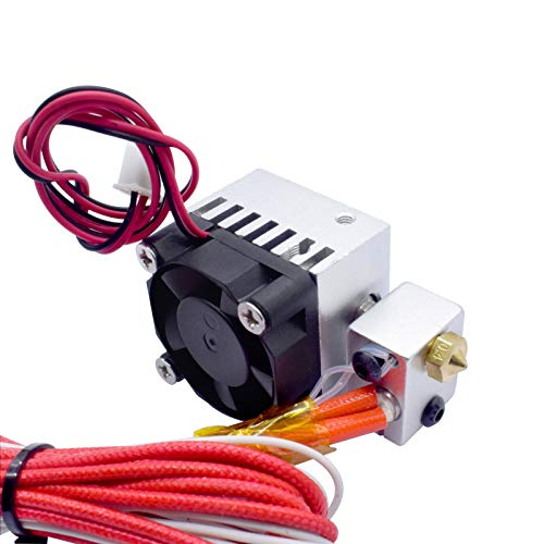 Stampante 3D Hot End V6 a lunga distanza 1 in 1 estrusore singola testa 12V / 24V 0.4mm 1.75mm con ventilatore di raffreddamento / adatto per stampante 3D / adatta per E3.d ( Size : 24V Print Head )