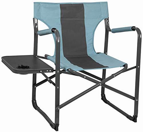 CAPTURE Outdoor, Sillón cómodo, asiento de camping Deluxe Relax CR-136, con estante lateral plegable, portavasos integrado, etc.