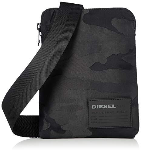 Diesel Herren F-DISCOVER CROSSBODY BAG Kuriertasche, schwarz, Einheitsgröße