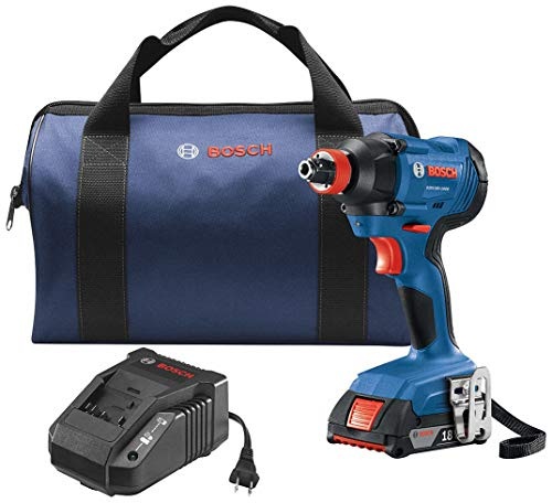 Bosch GDX18V-1600B12 Freak 18-Volt 1/4-in; 1/2-in Cordless Impact Driver (1-Battery Included)