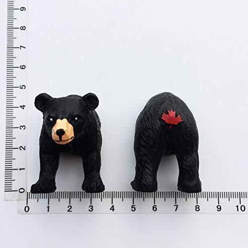 Fridge magnet 1 Set Canada Bear Fridge Magnet Tourist Souvenir Vancouver Brown Bear Funny Magnet Ornaments Cute Magnetic Refrigerator Stickers Fridge magnet (Color : One set)