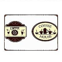 コーヒーのきしみ時間 メタルポスター壁画ショップ看板ショップ看板表示板金属板ブリキ看板情報防水装飾レストラン日本食料品店カフェ旅行用品誕生日新年クリスマスパーティーギフト