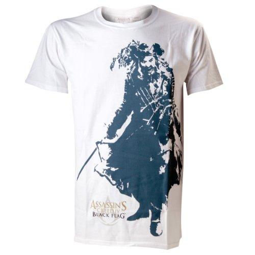 T-Shirt 'Assassin's Creed IV : Black Flag' - Black Beard - blanc - L