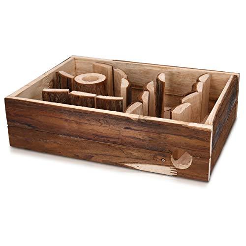 Navaris Labyrinth für Mäuse Nager - Spielzeug für Käfig oder Terrarium - Zubehör Spielplatz Wohnlabyrinth für Käfige - aus Holz