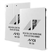 アヴィーチー AVICII RIP ipad 10.2 ケース ipad 第七世代ケース 2019秋発売 高級PUレザー スリープ/ウェイク 角度調節可能なスタンド 三つ折り 全面保護 スタンド スマートケース カバー 手帳型 薄型 耐久性 かわいい