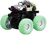 教育玩具四輪駆動慣性オフロード車360度回転スタンスイングカーグッズ教育玩具 シミュレーション (Color : Green)