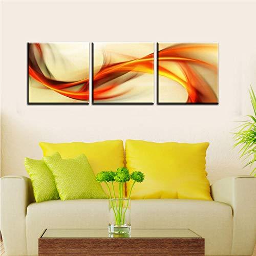 kaxiou canvasdruk canvasschilderij wandschilderijen voor de woonkamer 3-delige muurkunst modern schilderij op doek voor decoratie 40X40Cmx3 stuks geen lijst