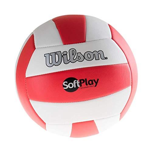 Wilson Pelota de vóley-playa, Exterior, Uso recreativo, Tamaño oficial, SOFT PLAY, Rojo/Blanco, WTH3511XB