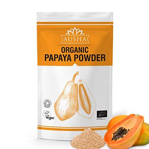 Ausha Organic Papaya Fruit Powder 100gm   Digestion Aid,Acid Reflux,Rich in...