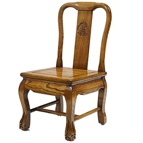 TMY Petite chaise en bois massif rétro, petite chaise de dossier, chaise à manger, chaise de sofa, tabouret de chaussure adulte de ménage, chaise de loisirs (36 * 39 * 68CM)
