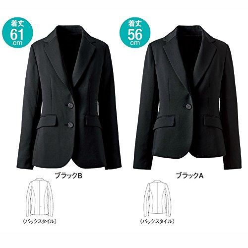 『[セシール] ジャケット オフィスウエアー 着丈が選べるスーツ テーラード 洗濯機OK AL-563 レディース ブラックB 7AR』の4枚目の画像