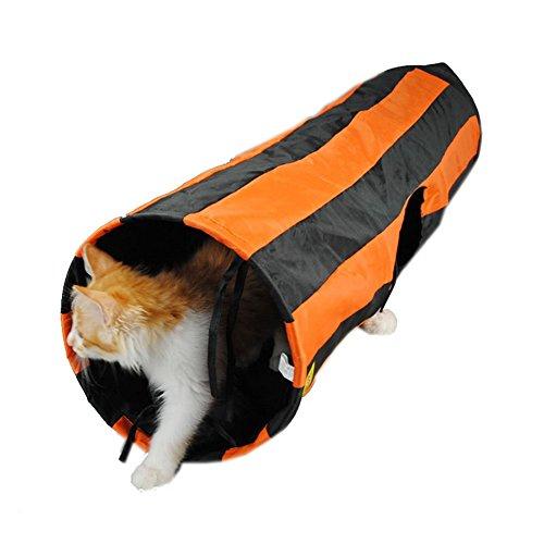 Funny Orange Bande Chat Tunnel Tente pliable