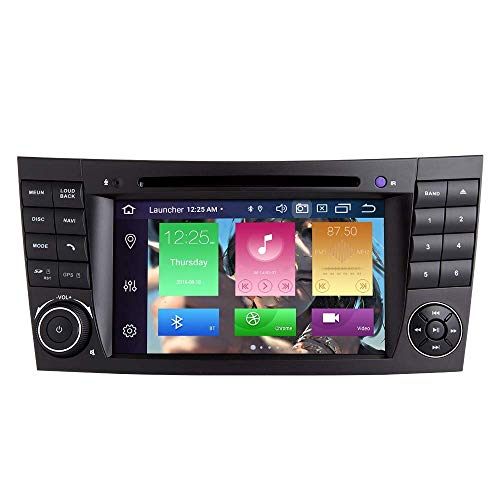 KLL Android 10 Octa Core 4G RAM 128G ROM Reproductor Multimedia para Coche para Mercedes Benz Clase E W211 CLS W219 con Pantalla multitKLLaacute;ctil 7IN HD Auto estKLLeacute;REO GPS para Coche RAD